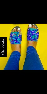Ankara ladies slippers