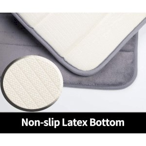 "Popeven Memory Foam Bath Mat Non Slip Absorbent Super Cozy Velvet Bathroom Rug Carpet (20"" X30"", G"