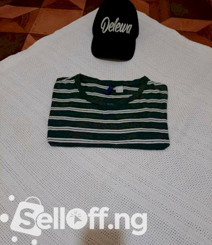 Divided Striped Roundneck Shirt