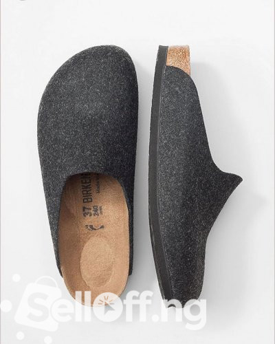 Covered Birkenstock slippers