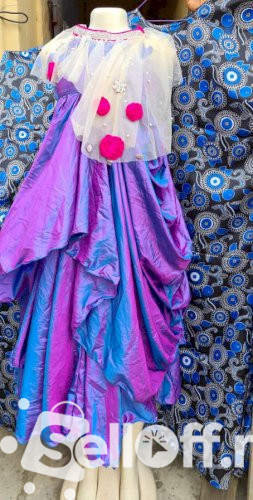 Beautiful Purple Girls Gown