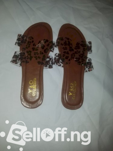 Trendy Female Transparent Brown slippers